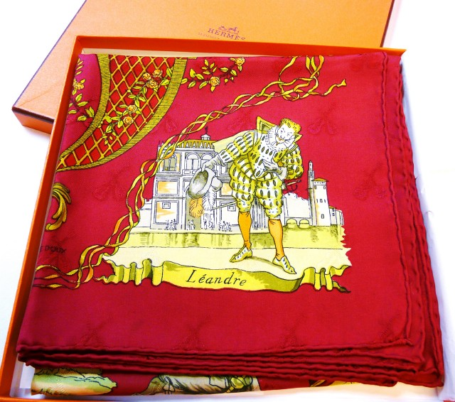 Authentic Hermès Jacquard Silk Scarf La Comédie Italienne - Mint w/Box