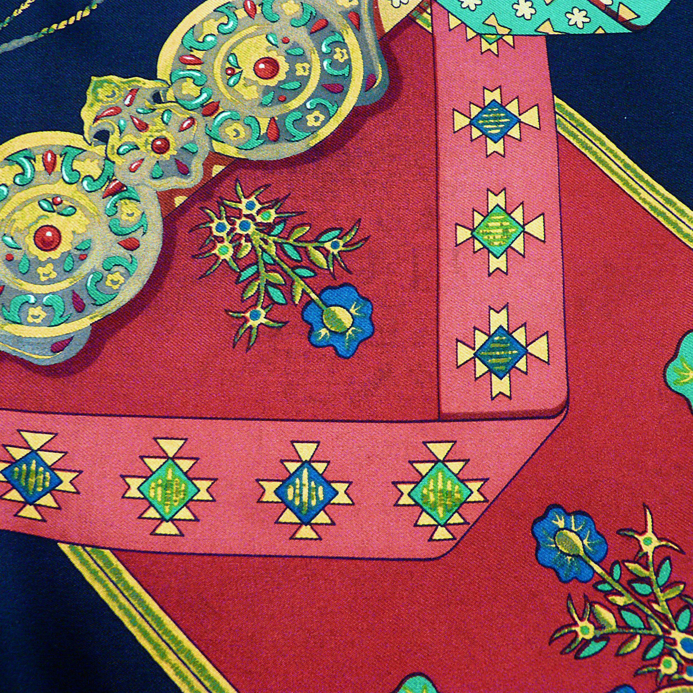 Brins d'Or HERMES Vtg Silk Scarf Colortransfer 2