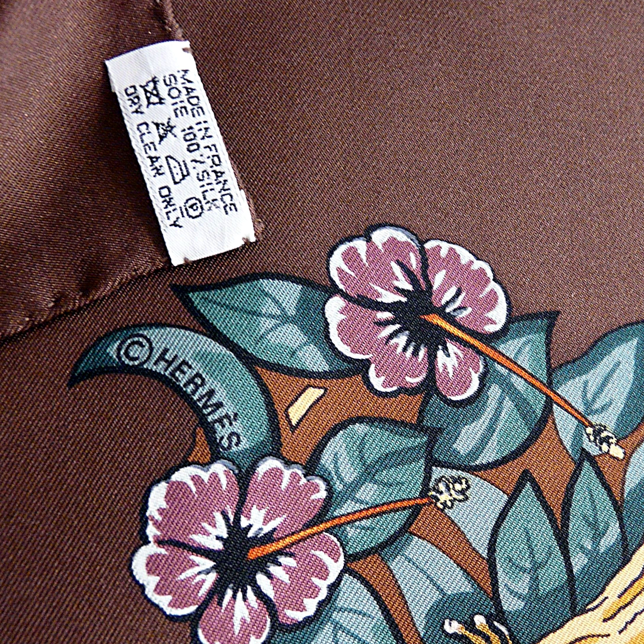 Jungle Love HERMES Care Tag and Copyright