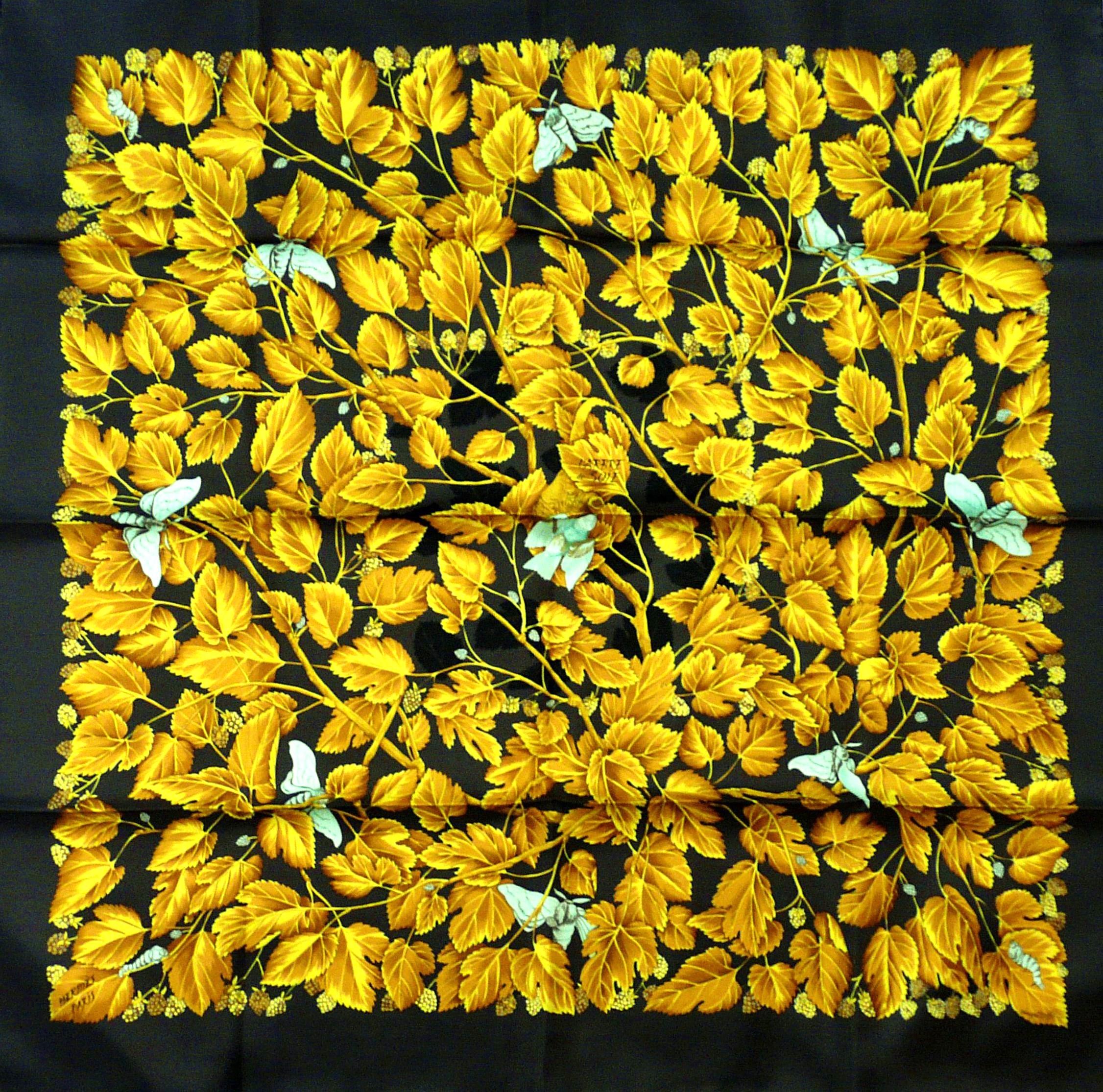 L'Arbre de Soie HERMES 90 cm Twill Silk Carre