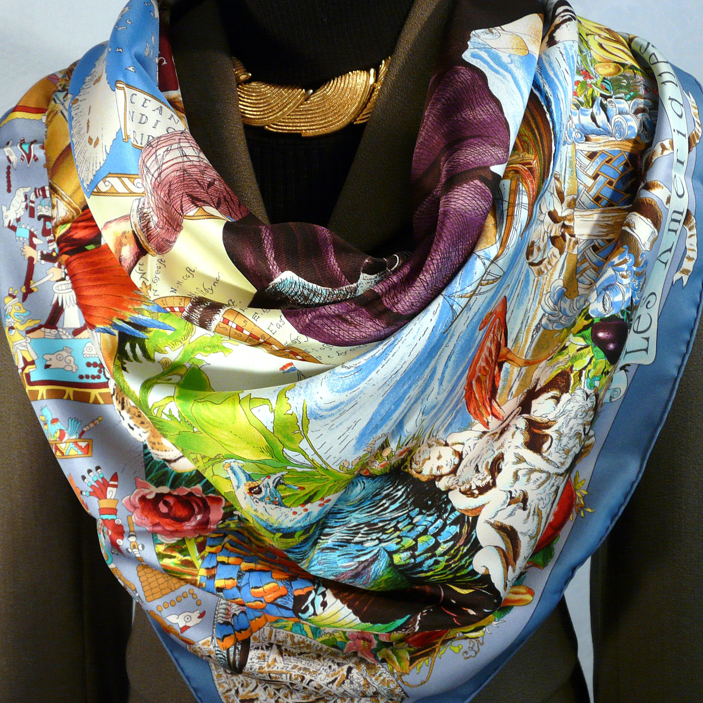 Les Ameriques HERMES Silk Scarf with Hermes Riding Jacket