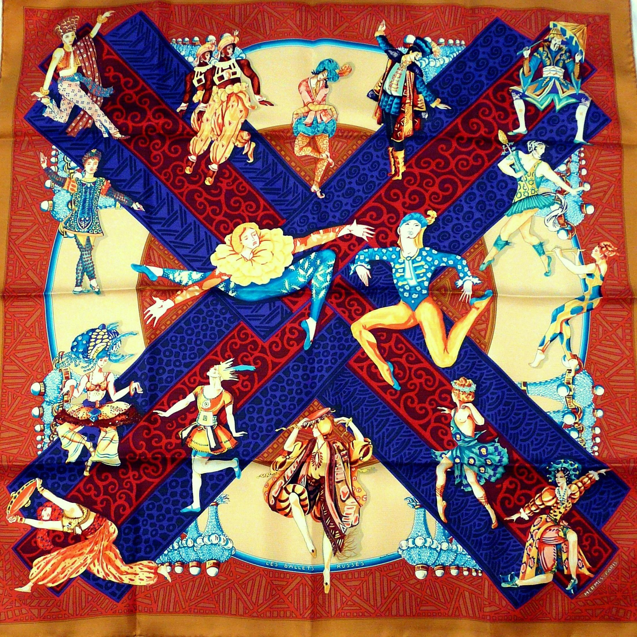 Les Ballets Russes HERMES 90 cm Silk Twill Carre