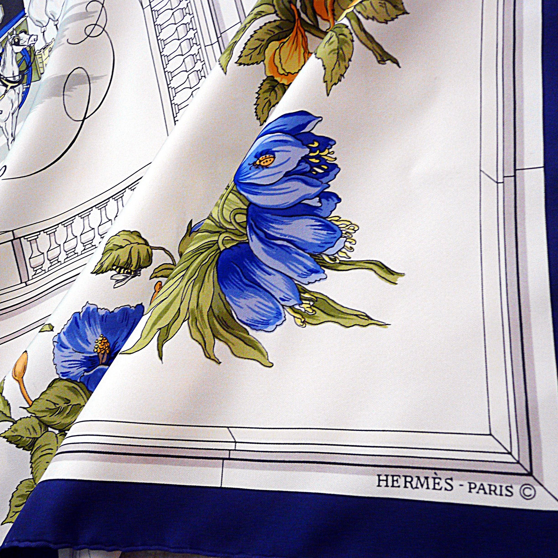 Quai aux Fleurs HERMES Silk Scarf Early Copyright
