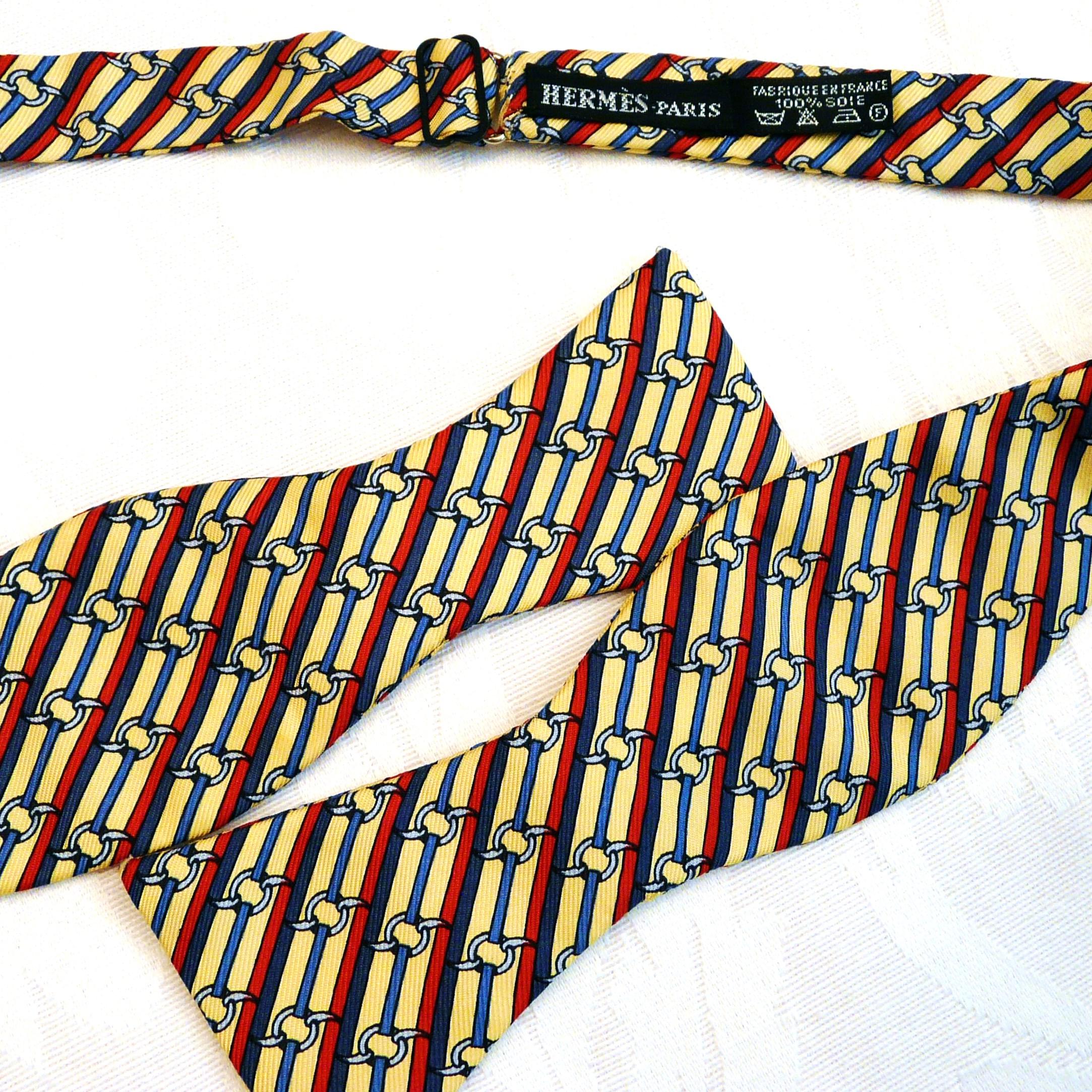 HERMES Vintage Silk Bowtie