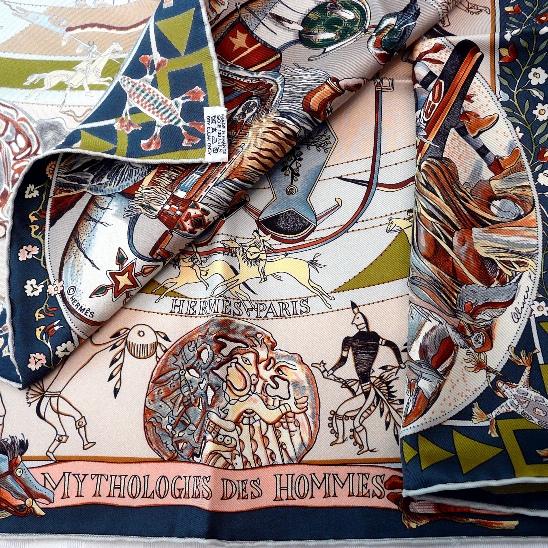 Mythologies des Hommes Rouges HERMES Care Tag Copyright Artist Signature