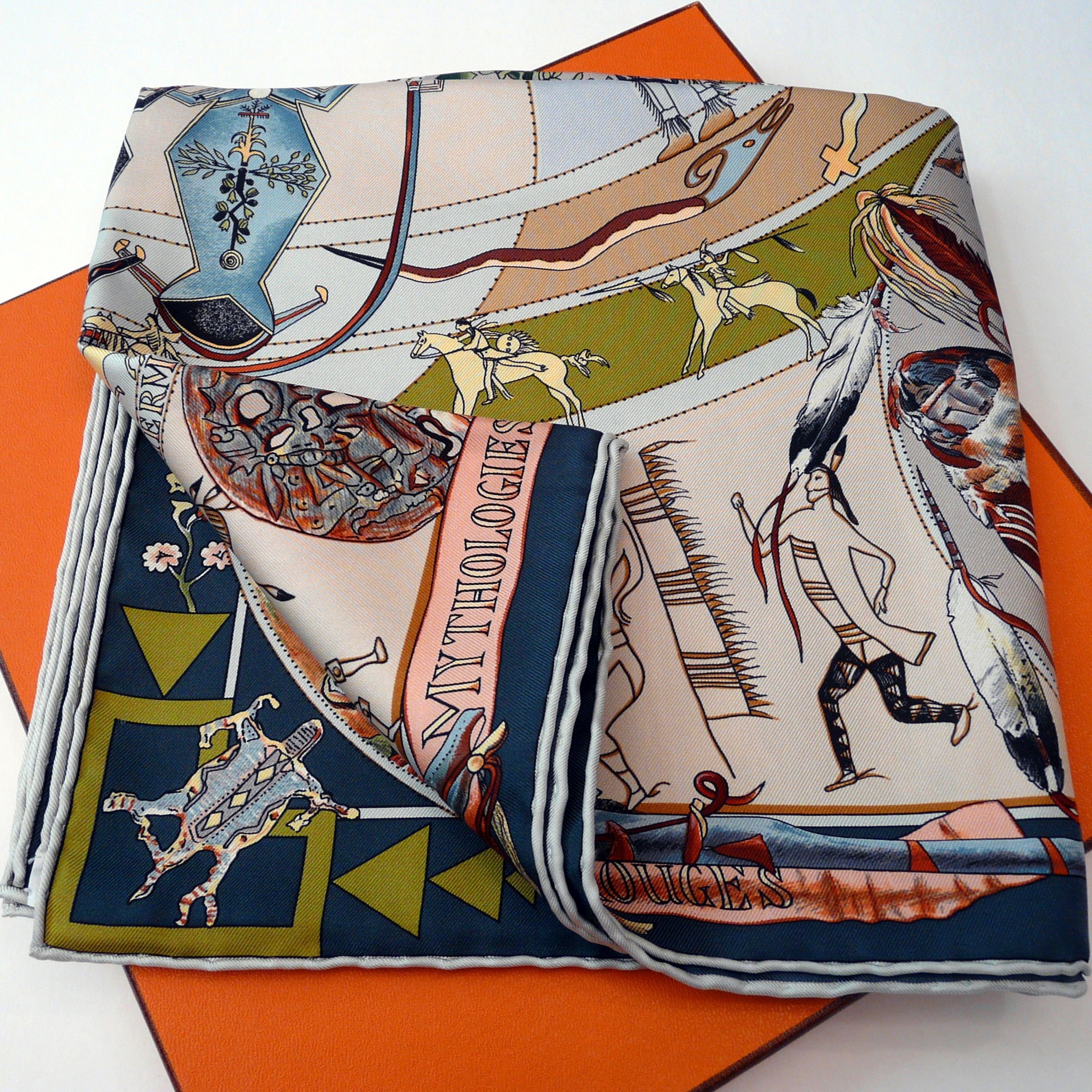 Mythologies des Hommes Rouges HERMES with scarf box