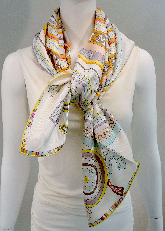 Tohu Bohu HERMES Paris Silk Scarf 90 cm