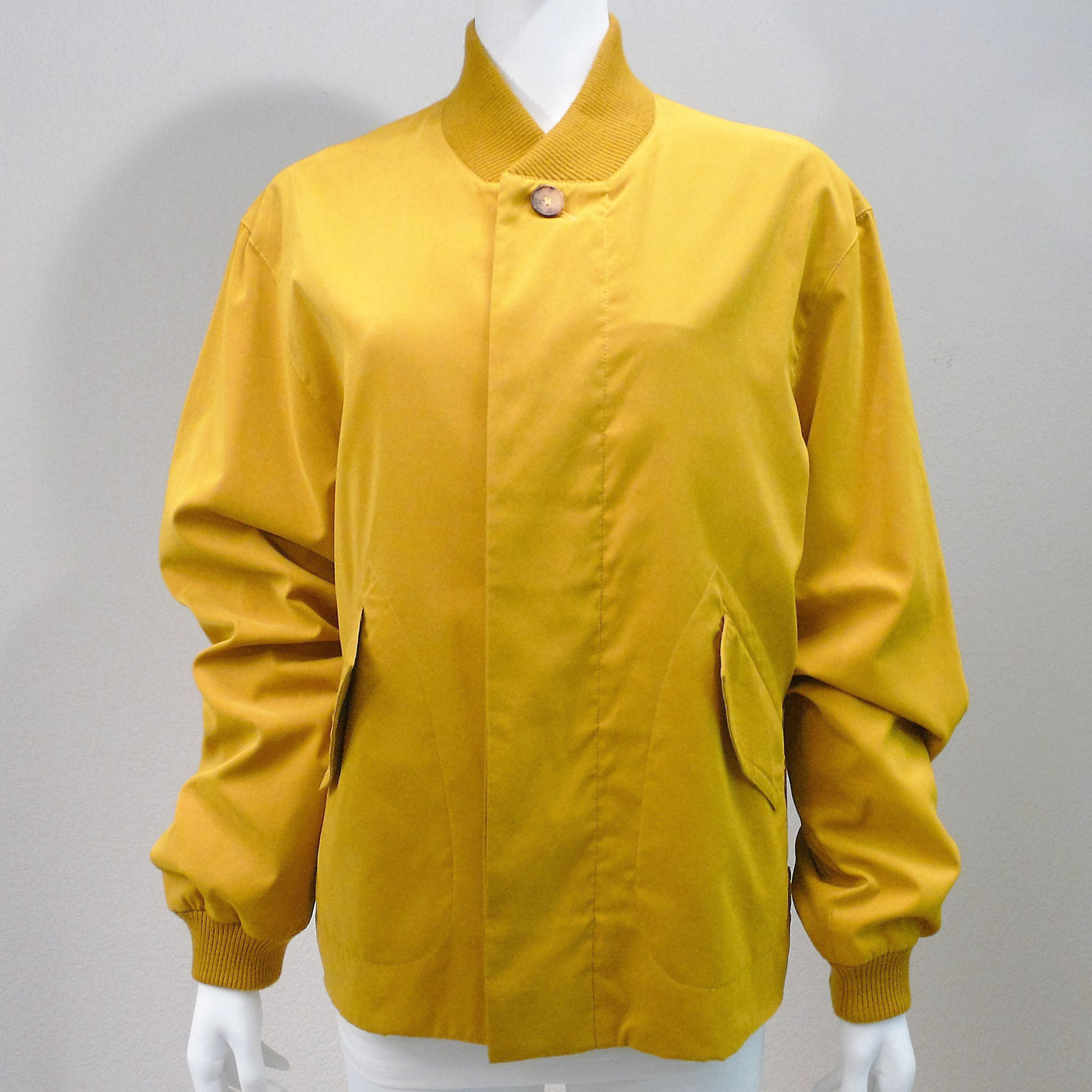 VTG Mens Windbreaker HERMES Gold Color Sz 48