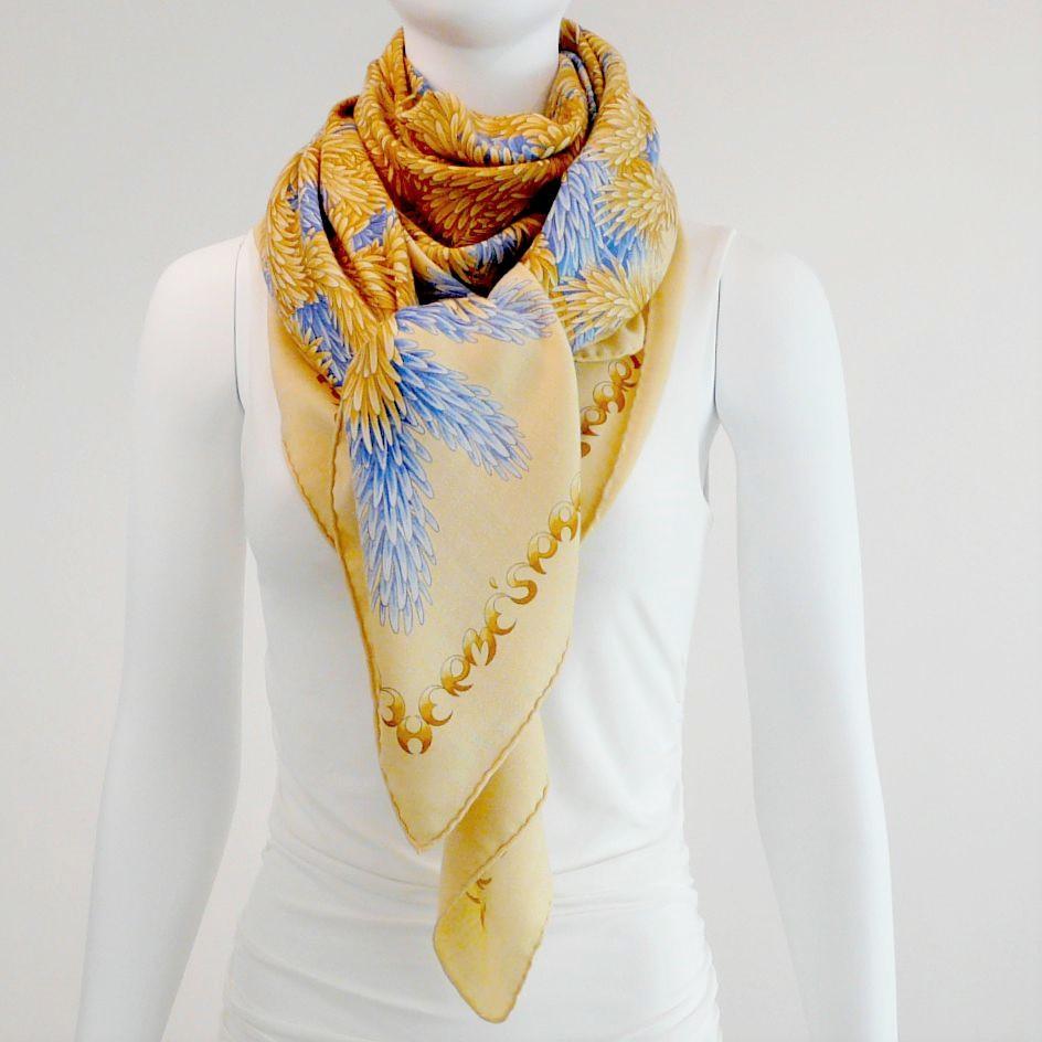 Hermes Paris 140 cm Cashmere Silk Shawl