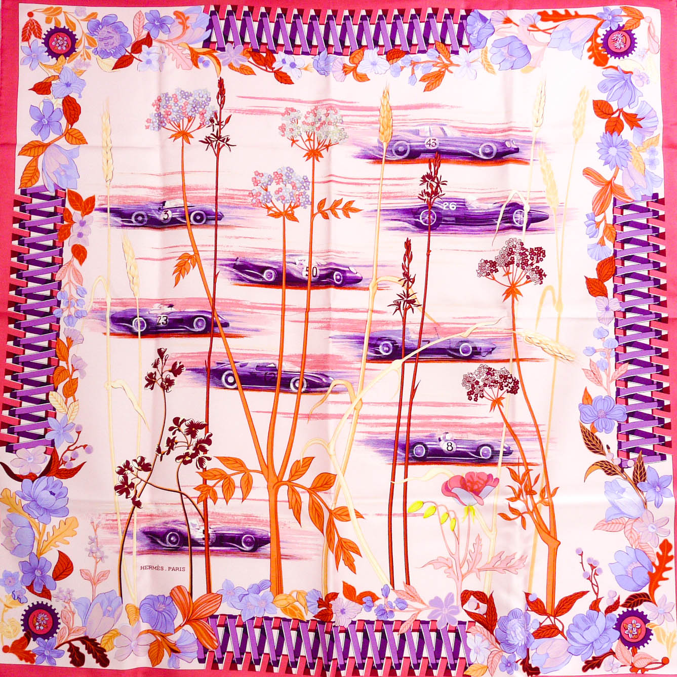 Les Bolides HERMES Scarf from 2003