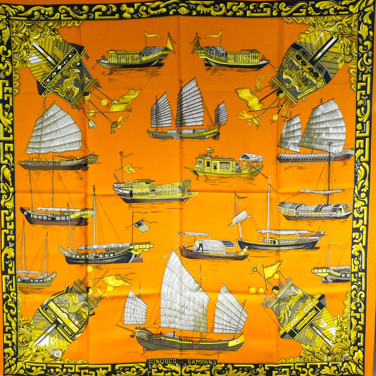 Jonques et Sampans HERMES Silk Carre by Carre de Paris
