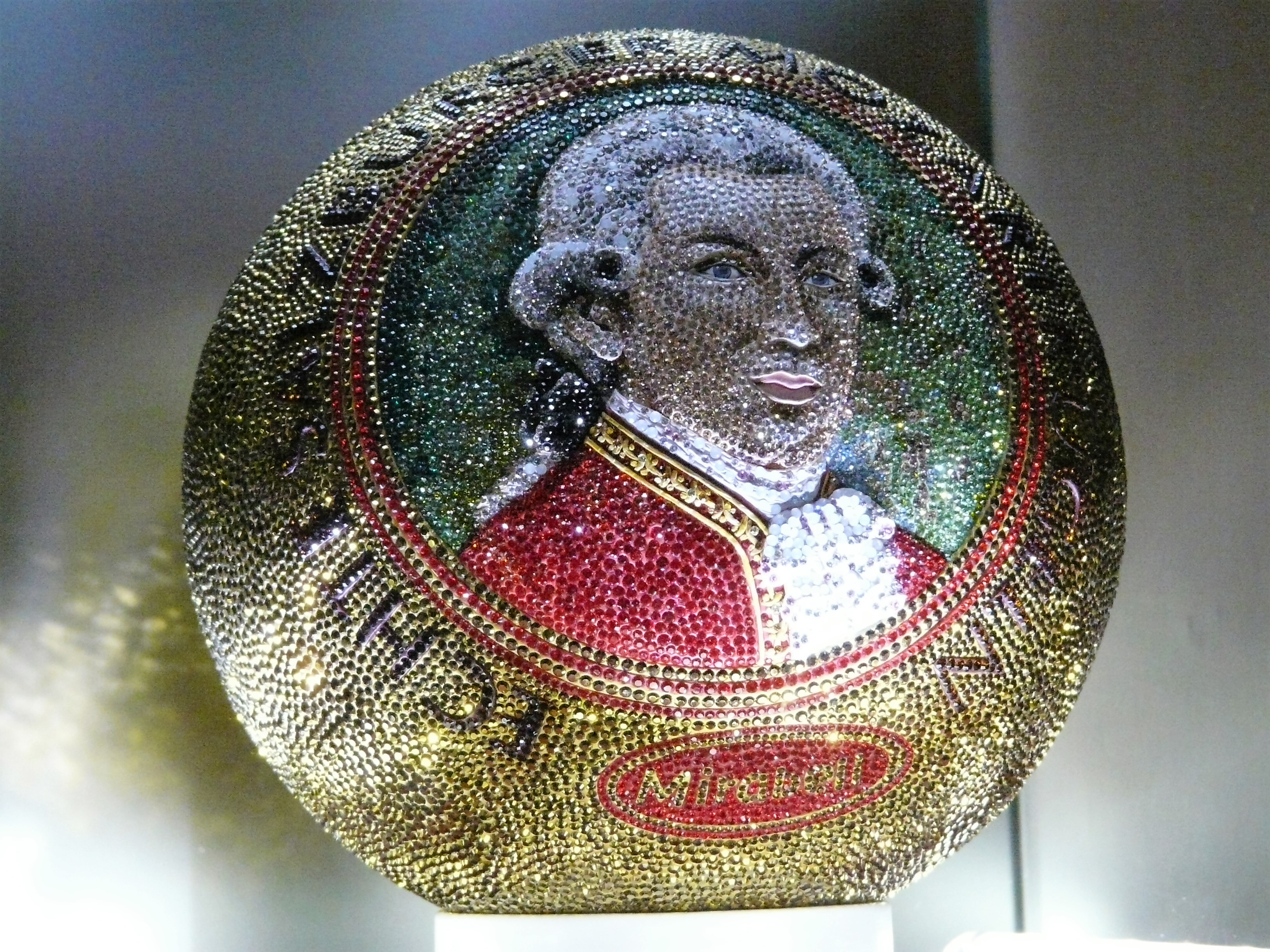 "Mozart Kugel is a delicious Chocolate ""truffle"", pictured is a large display version from Mozart's museum"