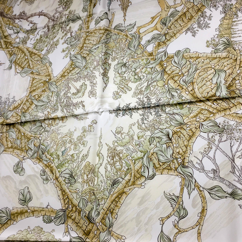 Fantaisie Pittoresque HERMES Silk Scarf_-9