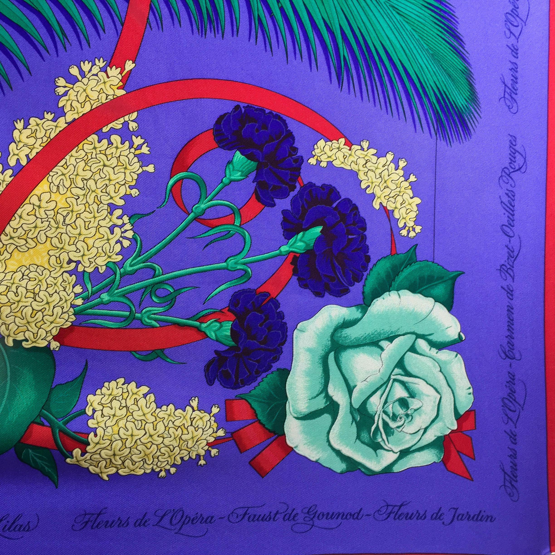 Fleurs d'Opera HERMES Silk Scarf-6