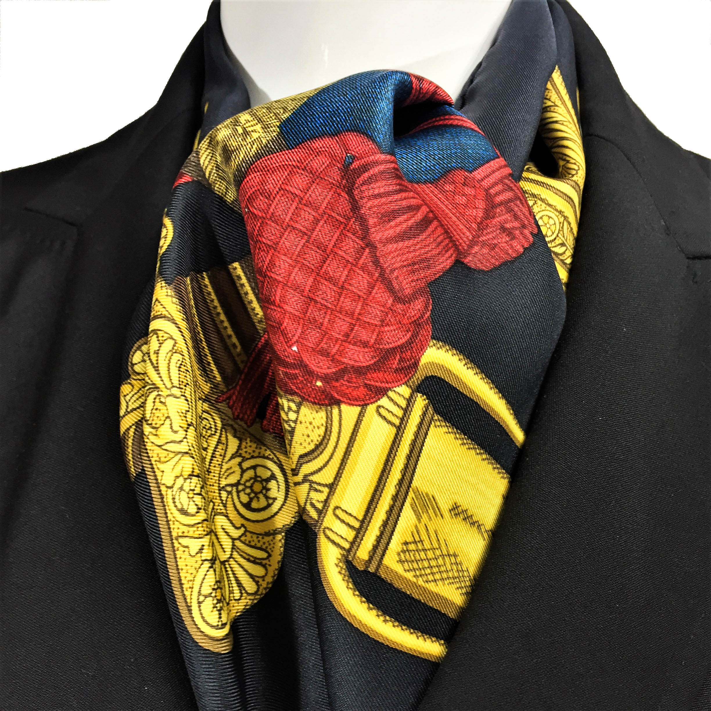Grand Uniforme HERMES Silk Scarf-3