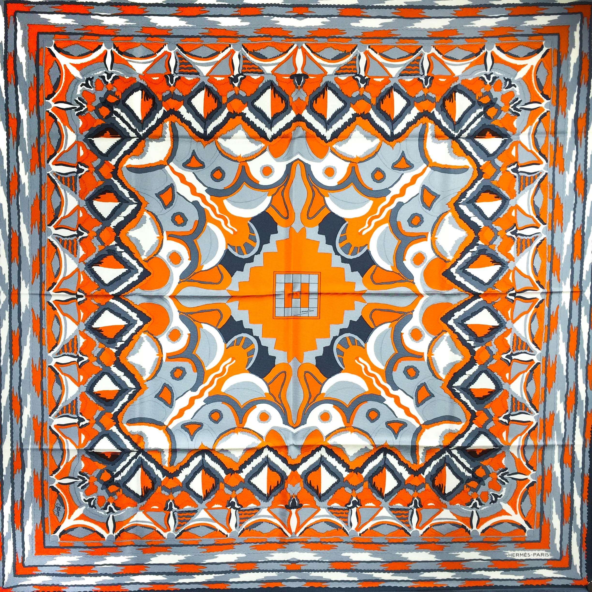 Ginza 2001 HERMES Silk Scarf Special Edition Very RARE
