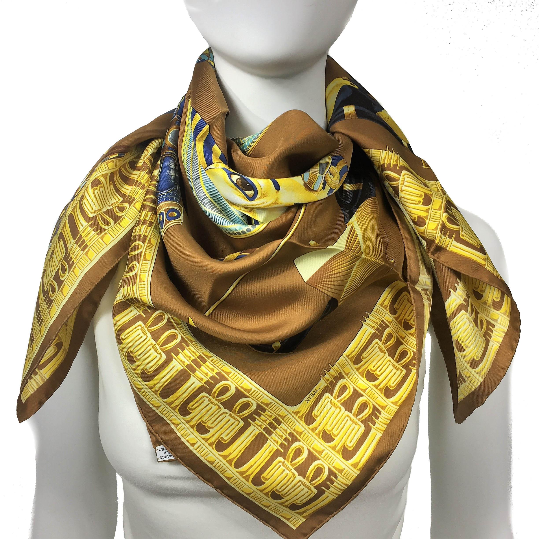 Tutankhamun HERMES Silk Scarf