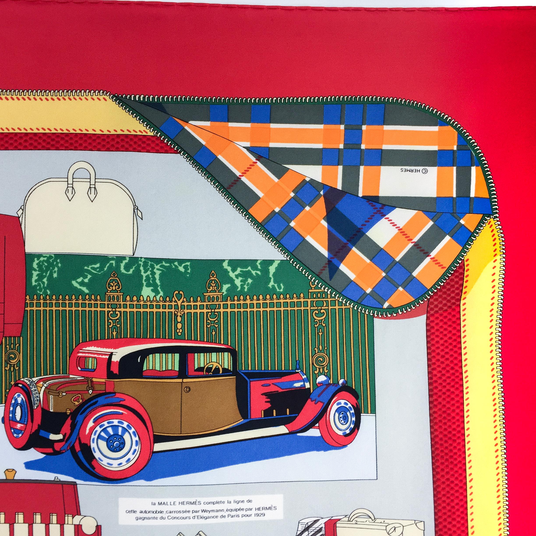 L'Elegance et Le Confort en Automobile HERMES Silk Scarf RARE-2