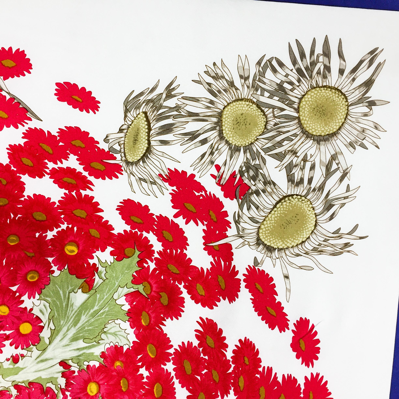 Fleurs et Carlines Vintage Hermes Silk Scarf-4