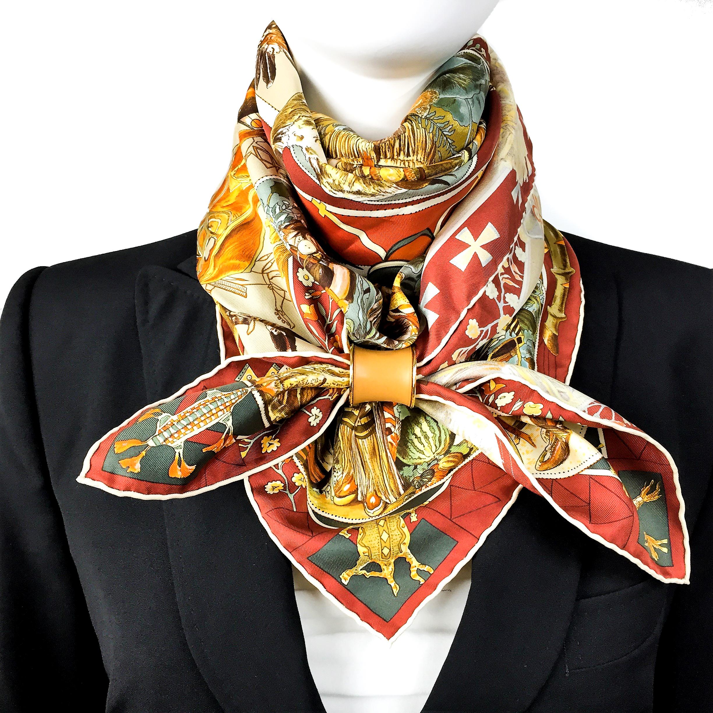 Les Mythologies des Hommes Rouges Hermes Silk Scarf_-2.jpg