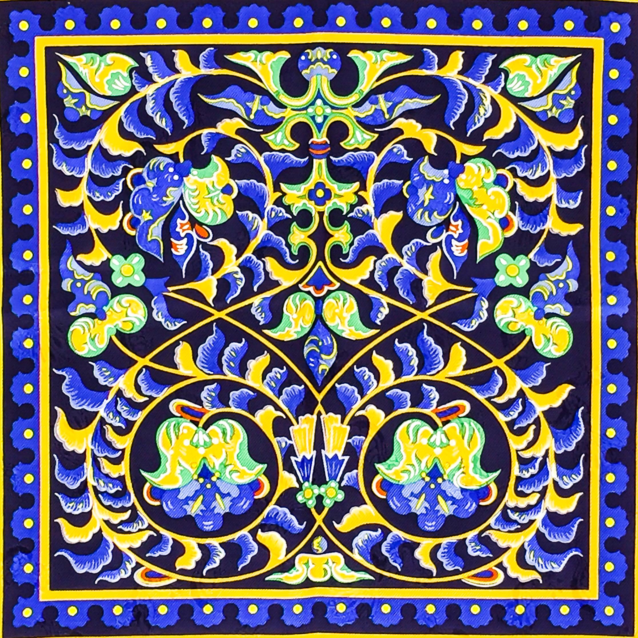 Ciels Byzantins Hermes Silk Jacquard Scarf_-5