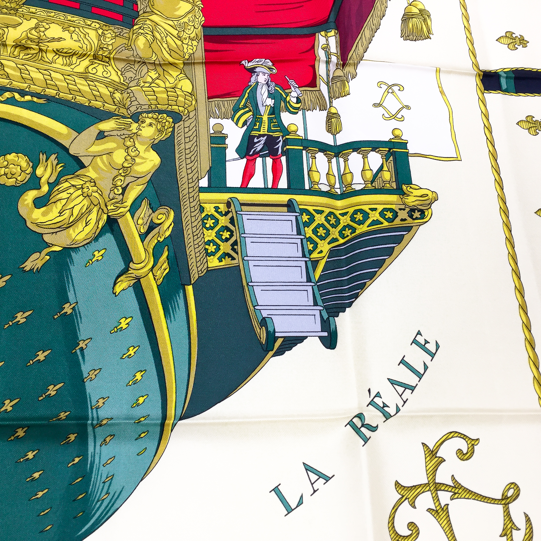 Hermes La Reale - Vue du Carosse de la Galere Silk Scarf UNWORN-7