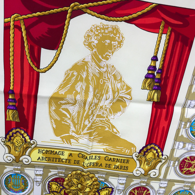 Hermes Silk Scarf Hommage à Charles Garnier_-4