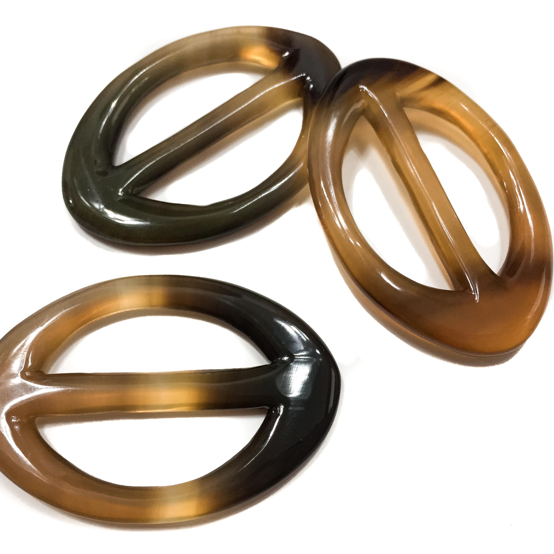 Carre de Paris Horn Scarf Ring-60