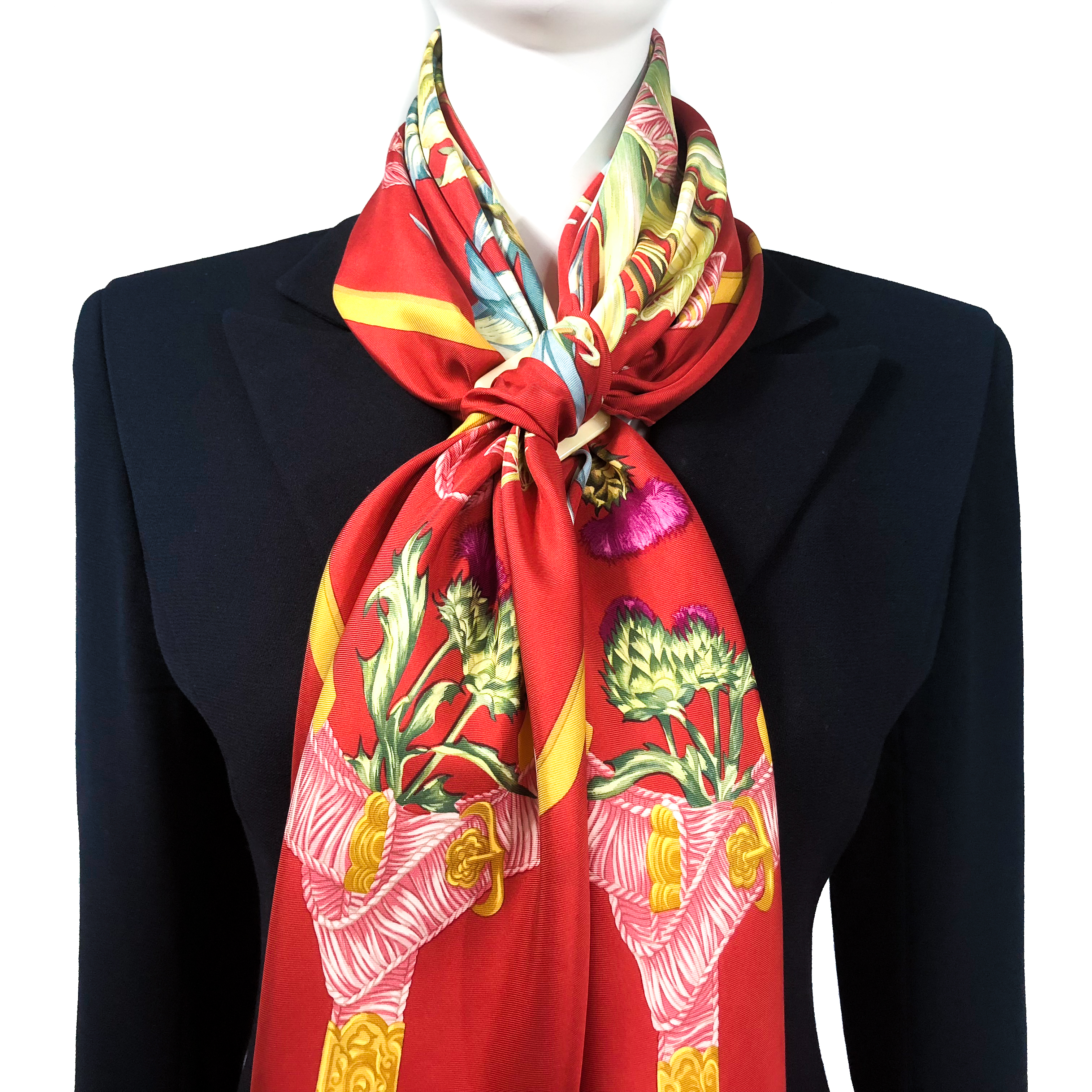 Regina Hermes Silk Scarf Rust-Early Issue-11